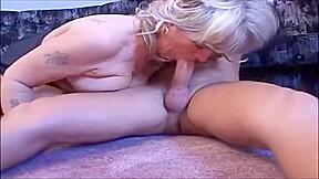 Blonde fat cougar...