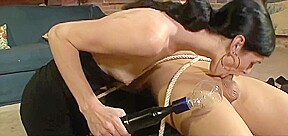 Little ashley has her first bdsm experience with...