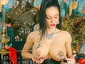 Opearl bizarre extreme pierced hucow netstockings bra...