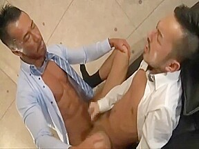 Japanese muscle daddy fucks co worker...