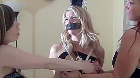 Lesbian tied and forced smoking gag by mistresses...