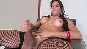 Big tits latina with transparent latex cos...