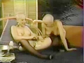 Bald babes shaving...
