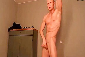 Cute hot straight hunk hot guy blond college...