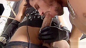 Makes her slave eat her ass...