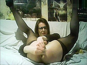 Playing with 2 anal toys...