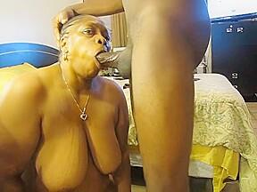 Black granny gaggers...