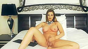 Shemale jerking on cam...