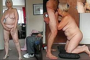 67 yo granny dancing naked cock sucking and...