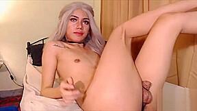 Cute femboy teasing webcam...