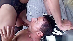 Gives him a sticky facial...