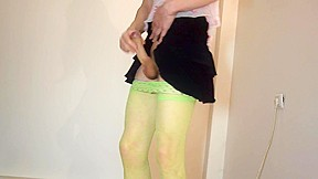 18 sissy boy with not sister clothes...