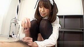 Stimulating asian maid chika arimura in cfnm sex...