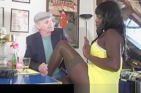 Voyeur papy looking at african orgy...