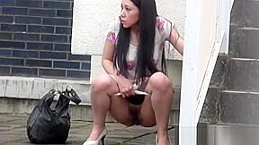 Japanese slut urinating...