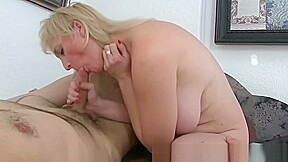 Passionate and hot mature mama and young boy...