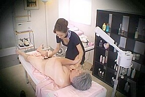 Massage parlor hidden camera sexy with a woman...