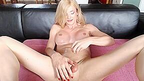 German t girl edges hard knob a petite...