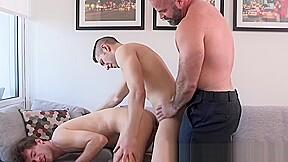 Gets barebacked hard in wild stepson threesome...