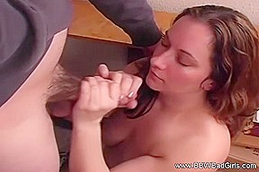 Her after a hard stroking hand job...