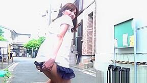 Hottie shows under the skirt...