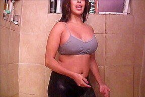 Latina wet spandex...