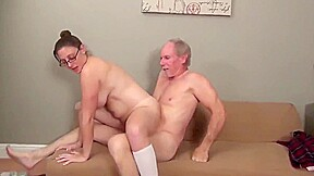 Lucky old man first naughty college girl...