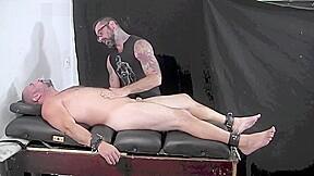 Dozer tickled naked...