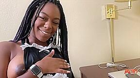 Ebony slut is working as a maid but...