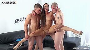 Porn star takes a few well hung dudes...