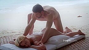 Nude blonde lady ariel is getting a gentle...