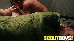 Scoutboys austin young fucked outside in tent daddy...