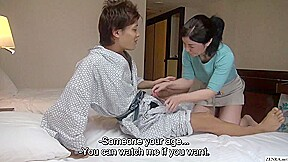 Japanese hotel massage mature busty handjob...
