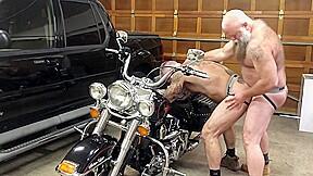 Biker bears garage part i...