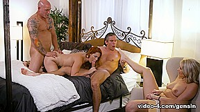 Two couples fuck and swap anikka albrite genuinesin...