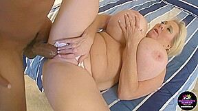 And blonde milf kayla tries to fit a...