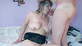 Sex with busty old mature euro cumshot...