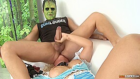 Butt fuck punishment with kinky blonde whore...