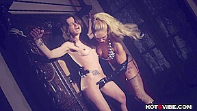 Femdom tied up with ginger hell...