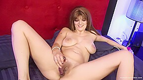 Amber leah in big tit brunette while masturbating...