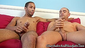 A homosexual pair jack off jointly...