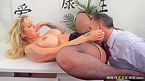 Mature lady sucks dirty office manager table with...