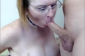 Gets titty fucked and jizzed...
