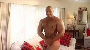 Muscle jerk his cock...