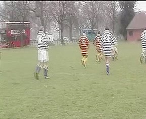 A sweaty rugby team...