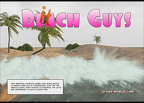 Hawaii queens surf beach 3 animated comics...