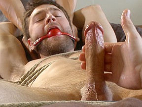 Hot bi hunks first time being bound and...