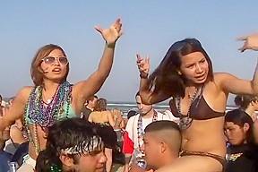 Smoking hot latinas show their knockers...