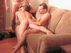 Trio 2 old dads bare fuck play hairy...