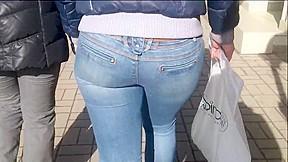 Milf in blue jeans...